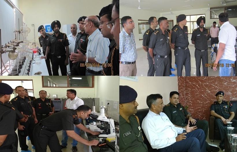 सेना के अधिकारियों ने केन्द्रीय भैंस अनुसंधान संस्थान, हिसार का दौरा किया
