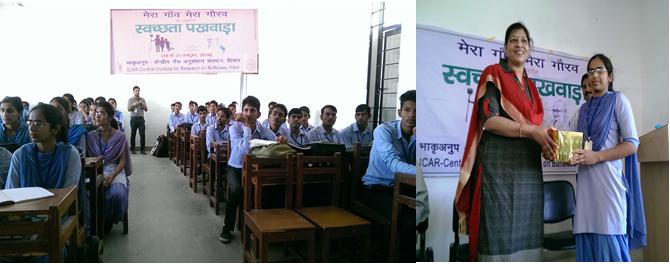 ICAR-CIRB organized Swachhta Campaign in village Badi Nyagal, village of Churu district of Rajasthan