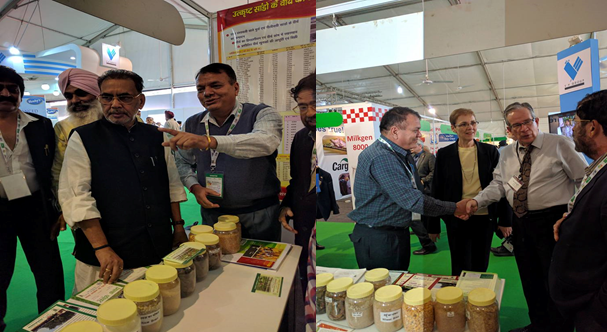 Union Minister Of Agriculture & Farmers welfare visits ICAR-CIRB stall at CII Agro Tech 2016