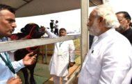 Director, CIRB showing champion buffalo bull to Hon'ble PM Shri Narendra Modi Ji during 'Krishi Unnati Mela'