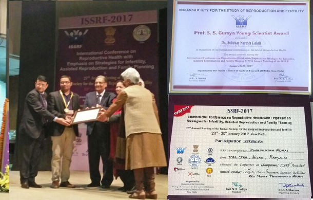 ICAR-CIRB Scientists Awarded during ISSRE-2017 at ICMR-Delhi